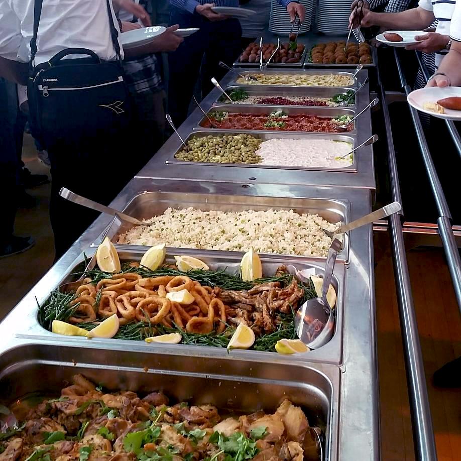 Soep met een Vork buffet catering