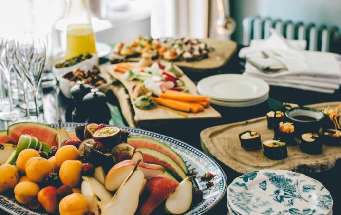 catering met fruit en groente