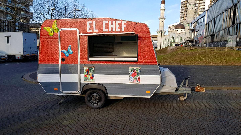 Spaanse foodtruck caravan El Chef