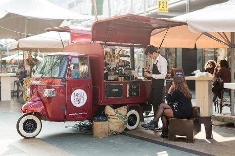 mobiele koffiebar barista bandit