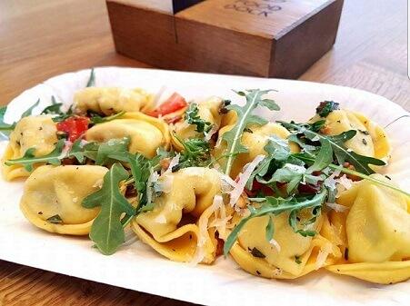 pasta op een bord